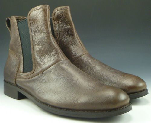 John Varvatos New Men's Shoes 8 US Leather Pull On Ankle Boots Brown