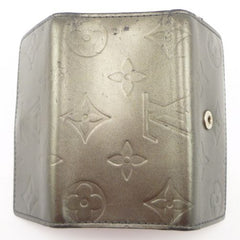 Louis Vuitton Monogram Leather Key Holder Case Metallic Gray