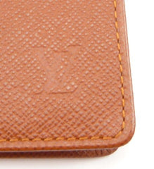 Louis Vuitton Grained Leather ID/Passport Bi-fold Wallet SP0013 Mens Brown