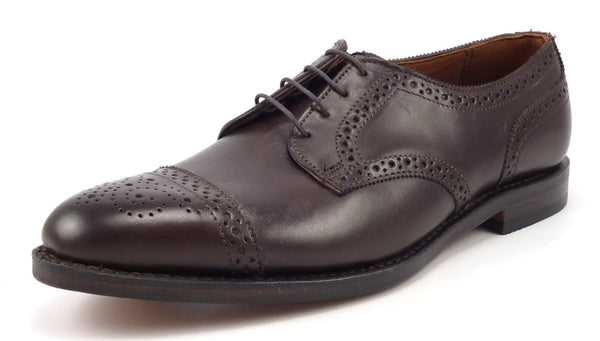 Allen Edmonds Mens Shoes 9 Leather Cap Toe Oxfords 39321 Brown New