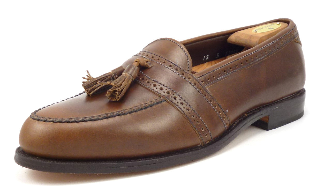 4f12a10e7f2 ... Mens Shoes 12 Harvard Leather Loafe Brown. Allen Edmonds New Men