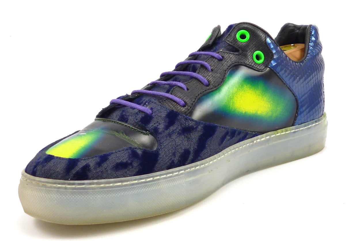 7cfd3aa5528a7 Balenciaga Men's Shoes Size 41, 8 US Mixed Media Panneled Sneakers Blue