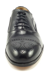 Bally New Mens Shoes Size 8.5 EEE Fino Leather Cap Toe Oxfords Black