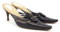 Bottega Veneta Womens Shoes Size 39, US 9 Leather High Heels Black