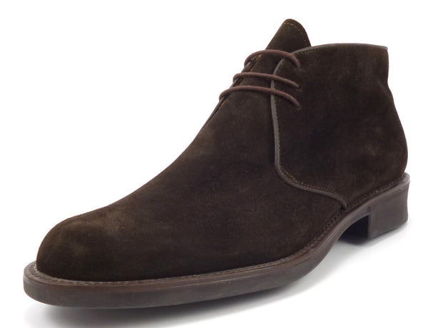 Bruno Magli Men's Shoes 9.5 US Dostin Suede Lace Up Ankle Boots Brown Pre-owned