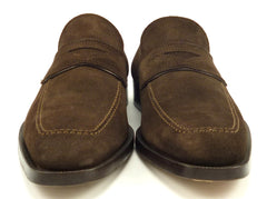 Canali Men's Suede Loafers Size 10.5 US Brown