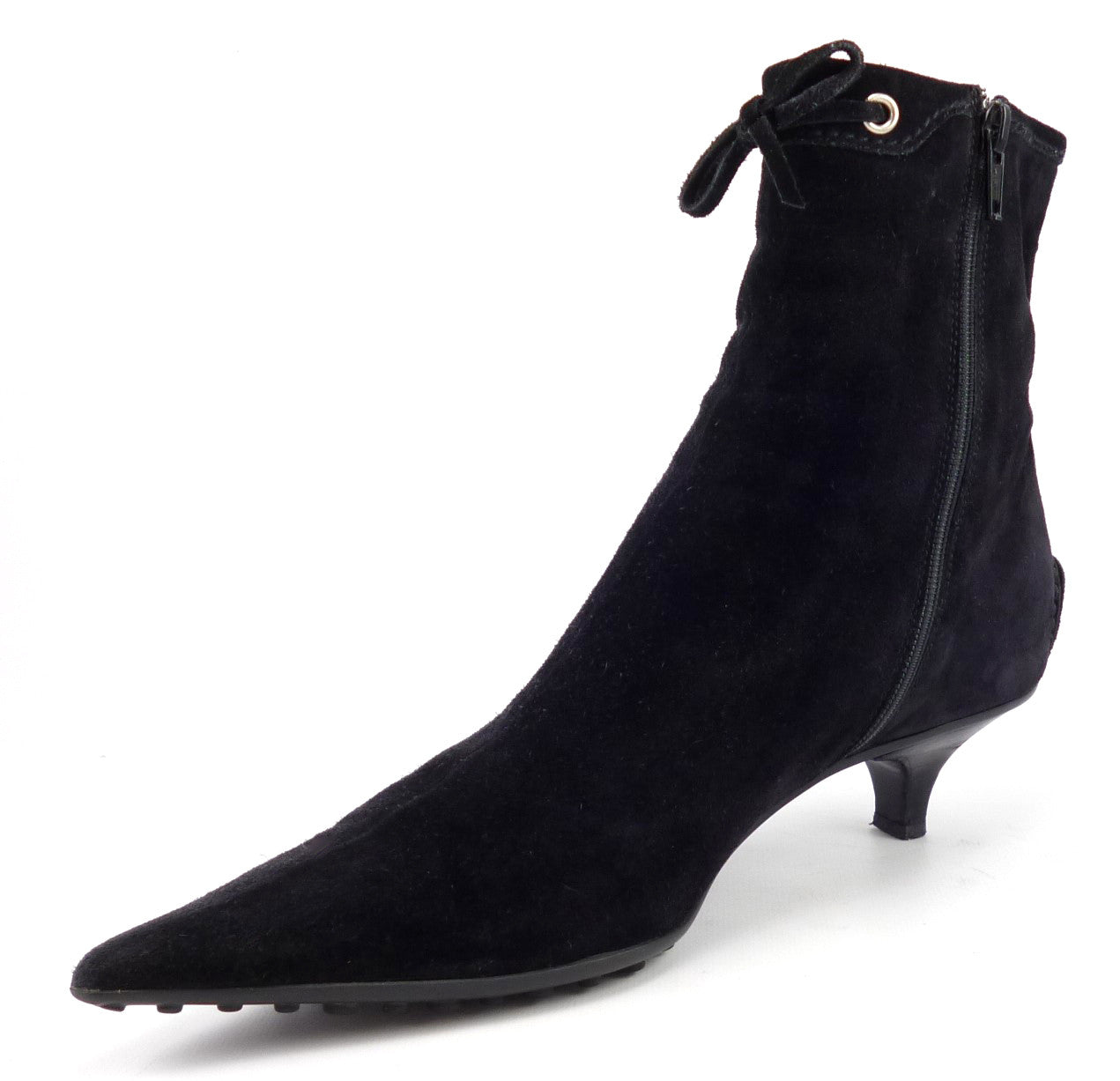 Car Shoe Womens Shoes 37.5, US 7.5 Suede Booties Black ...