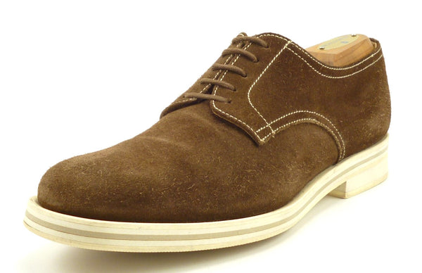 Church's Mens Shoes Size 6.5, 7.5 US Suede Lace Up Oxfords Brown