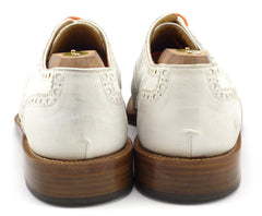 Cole Haan Men's Shoes 8.5 US Nubuck Leather Cap Toe Oxfords White