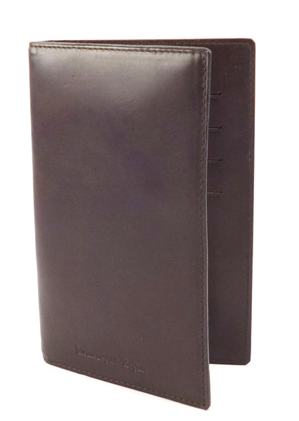 Ermenegildo Zegna Mens Wallet Leather Bifold Jotter Style Brown