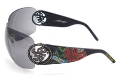 Ed Hardy Women's Sunglasses Beyonce 2 EHS024 Black / Gray