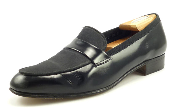 Salvatore Ferragamo Mens Shoes Size 9.5 US Dean Patent Formal Loafers Black Pre-owned
