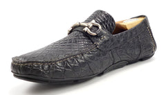 Ferragamo Men's Crocodile Parigi Size 10 EEE Black