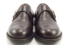 Ferragamo Men's Monk Strap Shoes Size 10 EE Brown