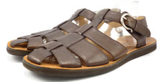 Salvatore Ferragamo Men's Shoes 12 US Leather Strap Sandals Brown