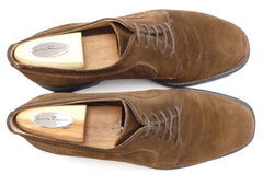 Ferragamo sz 7.5 EE Menton Suede Oxford UH18899 Mens Brown fits US 8.5 EE