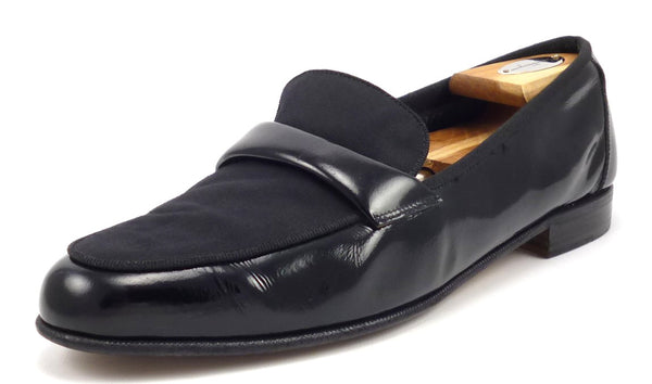 Salvatore Ferragamo Men's Shoes Size 10 US Dean Patent Leather Loafers Black Pre-owned