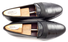 Salvatore Ferragamo Mens Shoes 9.5 Rio Leather Formal Loafers UI1629 Black