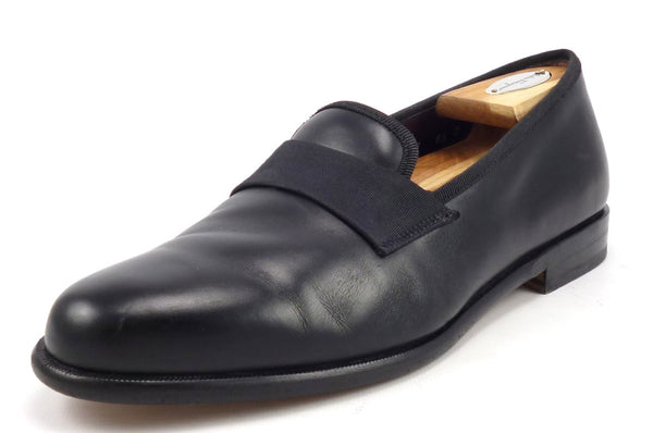 Salvatore Ferragamo Men's Shoes Size 8.5 US Rio Leather Loafers Black Pre-owned