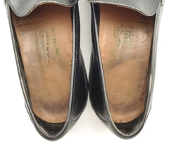 Salvatore Ferragamo Mens Shoes Size 8 Leather Bit Slip On Loafers Black