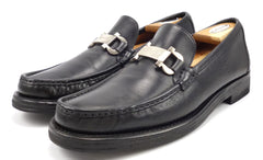 Ferragamo Men's Jazz Loafers Size 10 Black