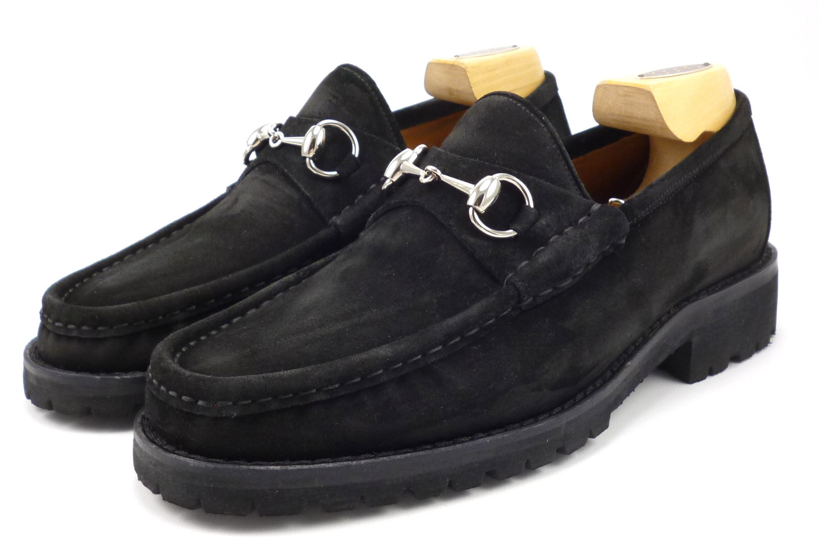 Shoes 7.5 US Suede Bit Loafers Black