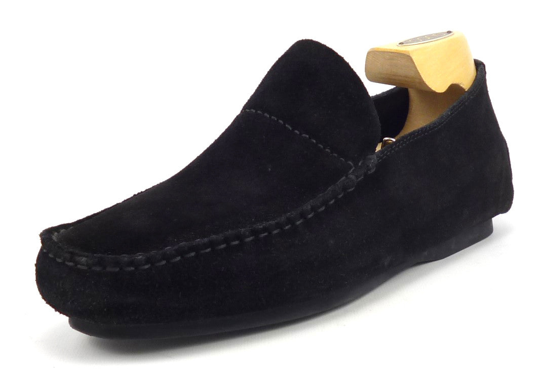Gucci Mens Shoes Size 7, 8 US Suede Casual Slip On Loafers Black