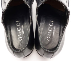 Gucci Men's Leather Loafers 1101591 Size 9 E US Black