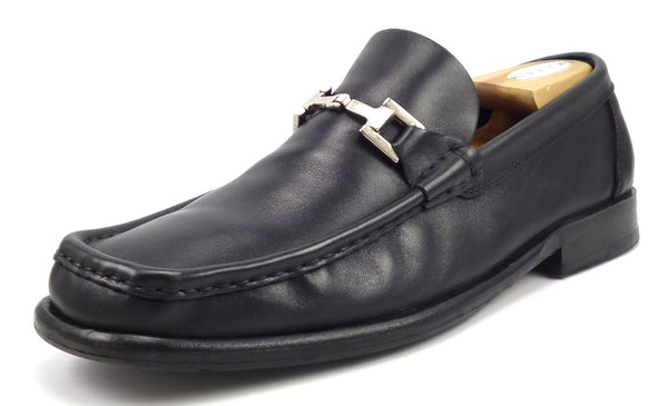 Gucci Men's Shoes Size 11.5 E US Leather Horse Bit Loafers Black Pre-owned