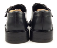 Gucci Mens Shoes Size 8, 9 US Leather Monk Straps Black