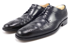 Gucci Mens Shoes 42 E, 9 E US Leather Wingtip Oxfords 1115337 Black