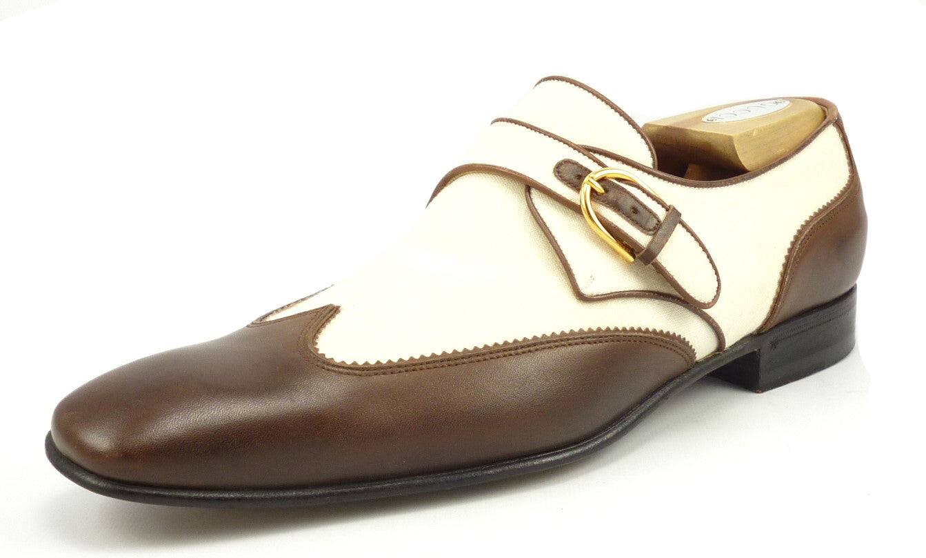 b8d24edc4e0f Gucci Mens Shoes 9.5 US Leather Wingtip Loafers Brown – Distinctive ...