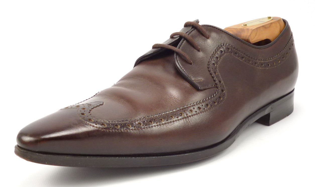 ffe31b7833b Gucci Mens Shoes 8.5 US Leather Wingtip Oxfords Brown – Distinctive ...