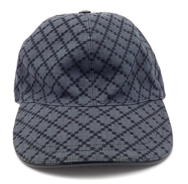 Gucci New Men's Diamante Baseball Hat XL Gray / Black