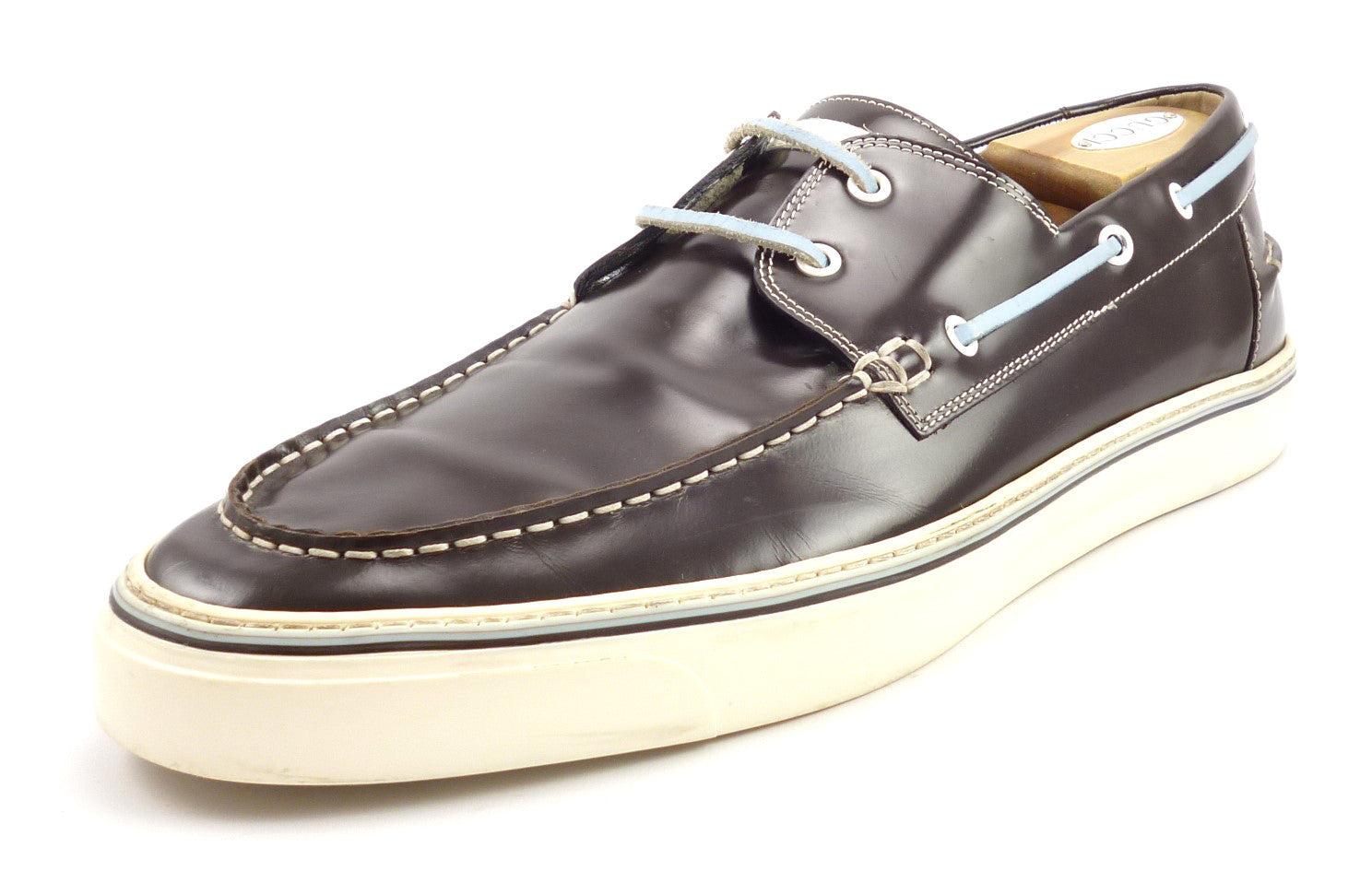 Gucci Mens Size 13 Leather Boat Deck Shoes Brown – Distinctive ...