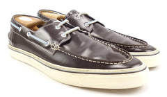 Gucci Mens Size 13 Leather Boat Deck Shoes Brown