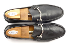 Gucci Mens Shoes Size 9, 10 US Leather Driving Moccasins 233526 Black