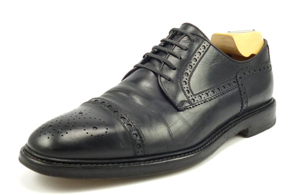 Gucci Mens Shoes Size 7, 8 US Leather Cap Toe Oxfords Black