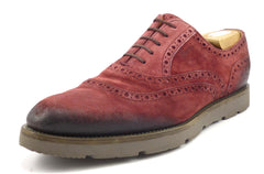 Gucci Mens Shoes Size 10 Camden Suede Oxfords 322483 Red