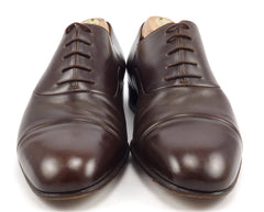Gucci Mens Shoes 41.5, 8.5 US Leather Cap Toe Oxfords 9600002 Brown