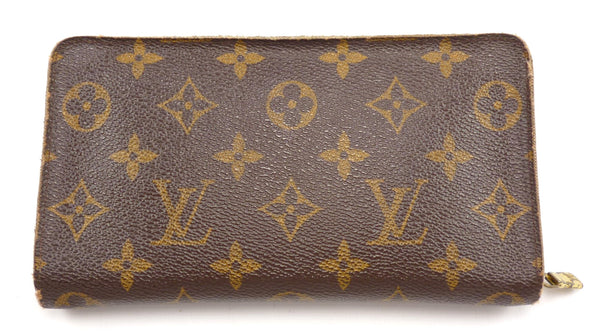 Louis Vuitton Mens Wallet Monogram Canvas Zip Organizer Style CA0969 Brown