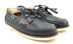 Louis Vuitton Mens Shoes Size 7, 8 US Leather Boat, Deck Oxfords Blue
