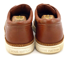 Louis Vuitton Men's Shoes 7, 8 US Nubuck & Leather Casual Sneakers Brown