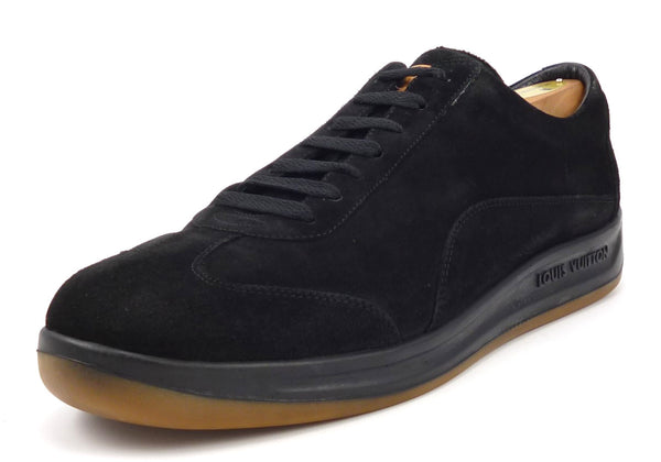 Louis Vuitton Men's Shoes 10, 11 US Suede Lace Up Sneakers Black