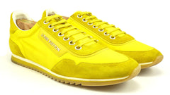 Louis Vuitton Mens Shoes Size 9.5, 10.5 US Nylon & Suede Leather Sneakers Yellow