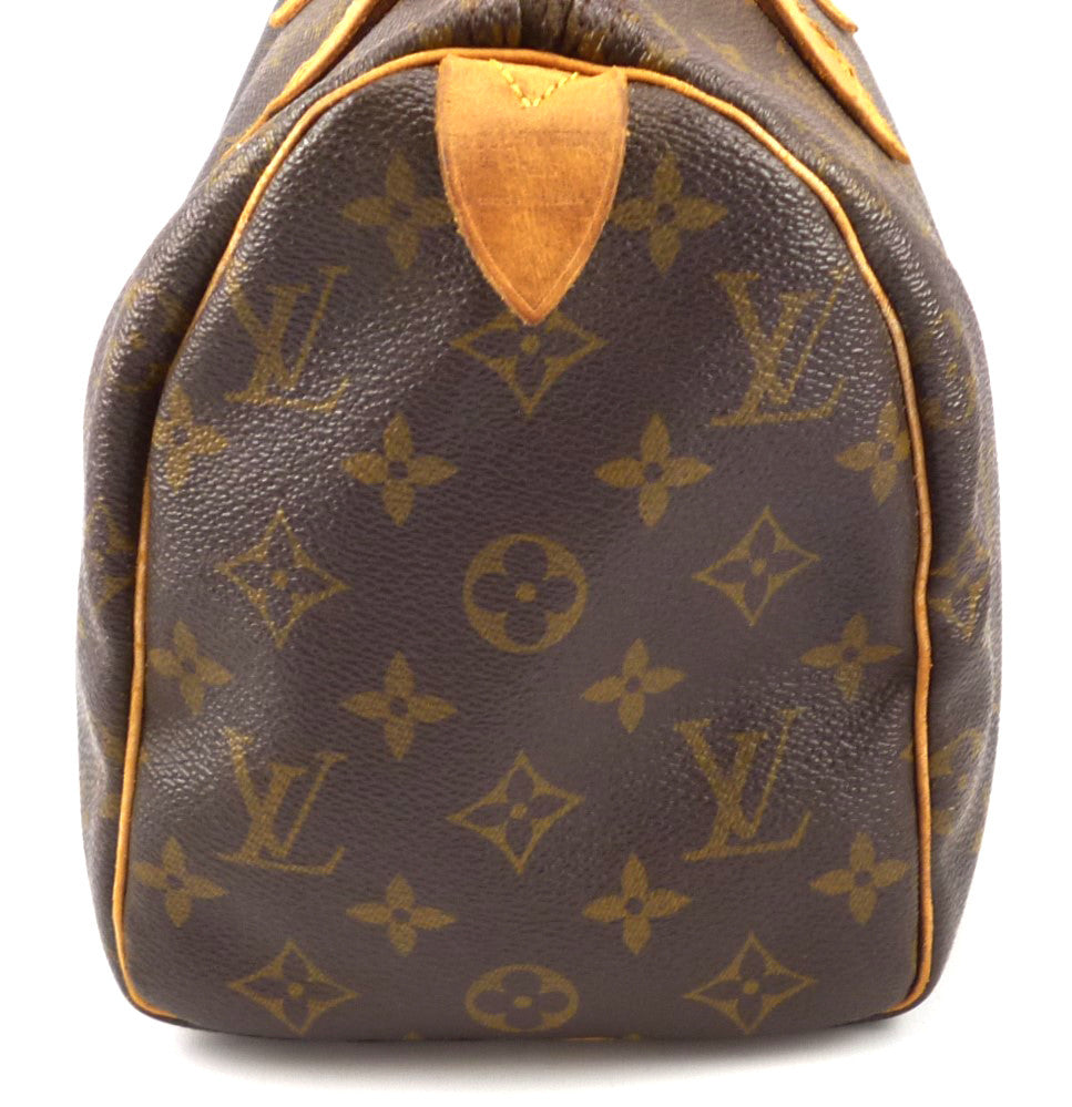 e47c031f5355 Louis Vuitton Authentic Monogram Speedy 25 Hand Bag – Distinctive ...