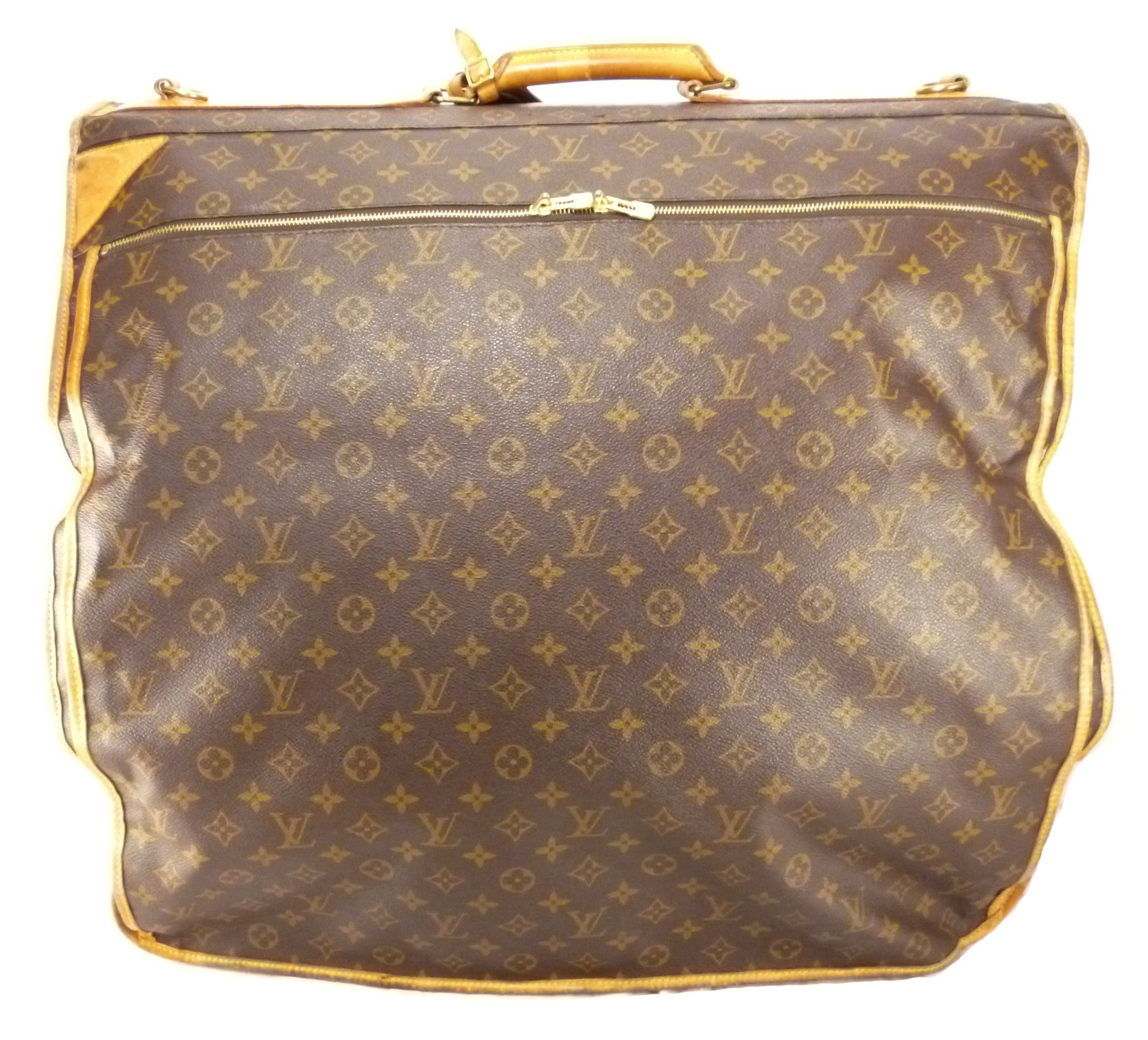 Louis Vuitton Authentic Monogram Cabine Garment Bag Travel Bag Brown