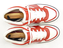 Louis Vuitton Men's Shoes 8, 9 US Tower Leather Sneakers Red / White