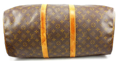 Louis Vuitton Authentic Monogram Keepall 50 Travel Hand Bag Brown