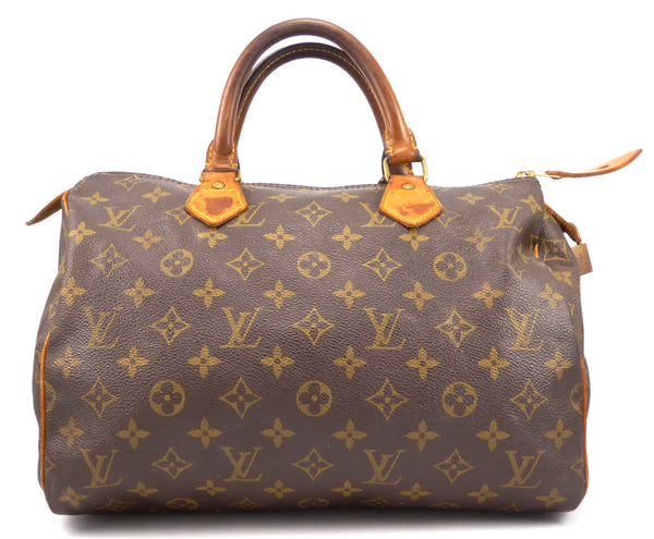 Authentic Louis Vuitton Vintage Monogram Speedy 30 Hand Bag
